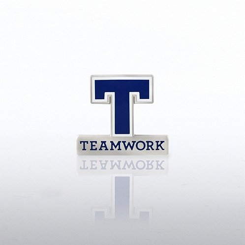 Letter Teamwork Lapel Pin