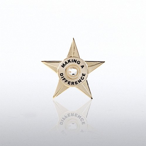 Making a Difference Star Circle Lapel Pin
