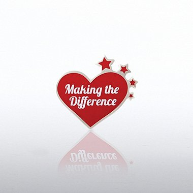 Lapel Pin - Making the Difference Heart with Stars