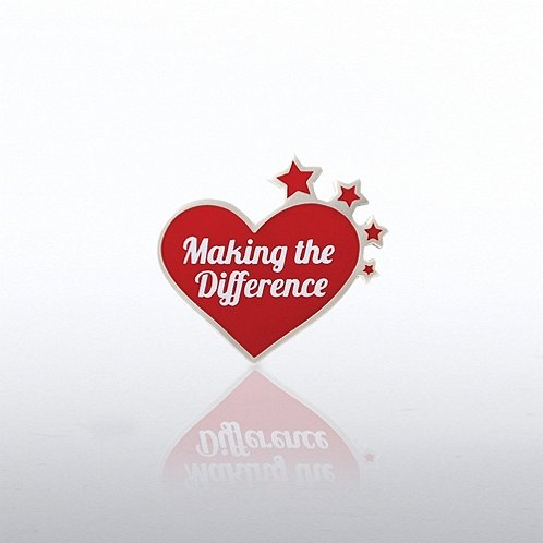 Making the Difference Heart with Stars Lapel Pin