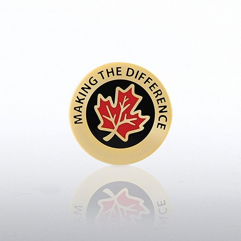 Making the Difference Maple Leaf Lapel Pin