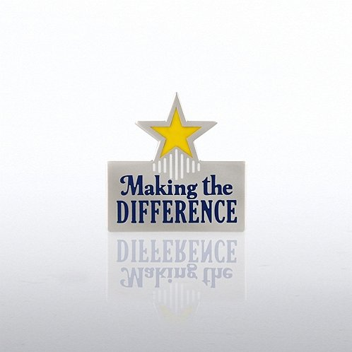 Making the Difference Middle Star Lapel Pin