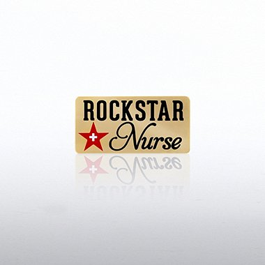 Lapel Pin - Rock Star Nurse