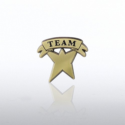 Team Banner Guy Lapel Pin