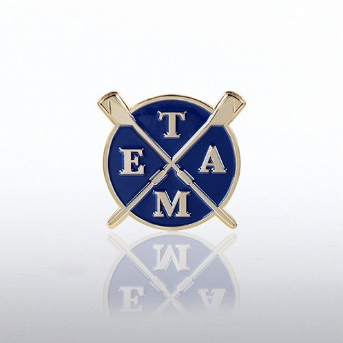 Team Rowing Lapel Pin