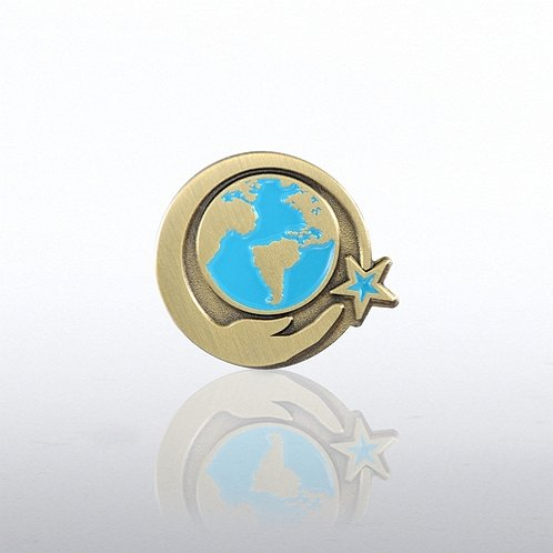 World in Hand Lapel Pin