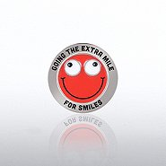 Bobble Head Lapel Pin - Going The Extra Mile For Smile