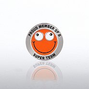 Bobble Head Lapel Pin - Proud Member Of A Super Team