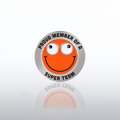 Proud Member Of A Super Team Bobble Head Lapel Pin