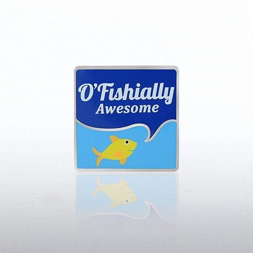 O'fishially Awesome Fish Lapel Pin