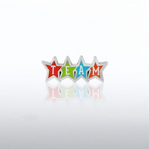 Team In Stars Lapel Pin