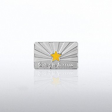 Glitter Lapel Pin - Rising to Success