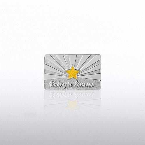Rising to Success Glitter Lapel Pin
