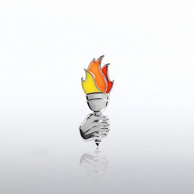 Lapel Pin - Translucent Torch