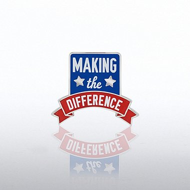 Lapel Pin - Making the Difference Banner