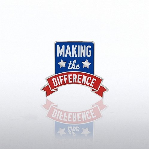 Making the Difference Banner Lapel Pin