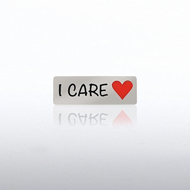 Lapel Pin - I Care Heart