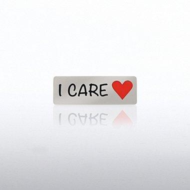 Lapel Pin - I Care Heart