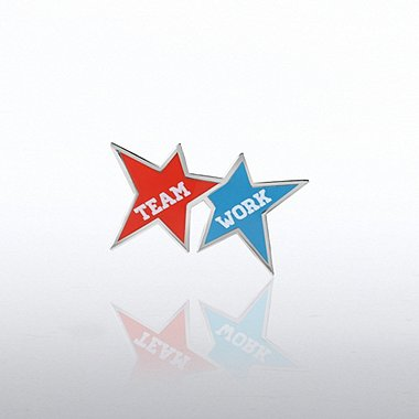 Lapel Pin - Team Work Stars