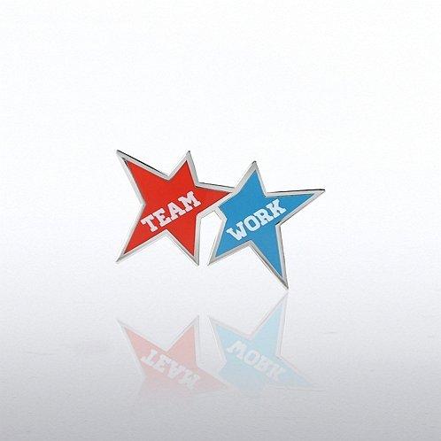 Team Work Stars Lapel Pin