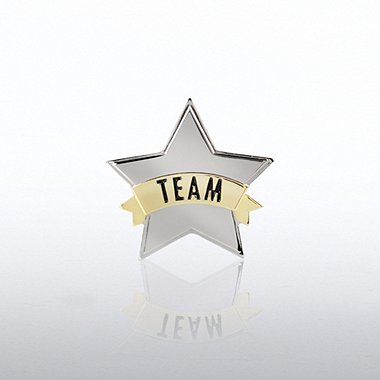 Lapel Pin - Star Team Banner
