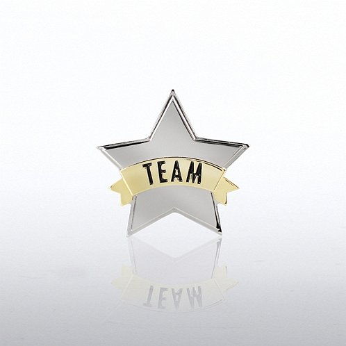 Star Team Banner Lapel Pin