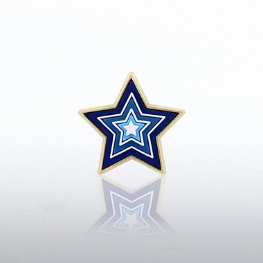 PVC Lapel Pin - Star Levels