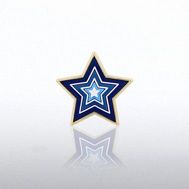 PVC Lapel Pin - Star Levels