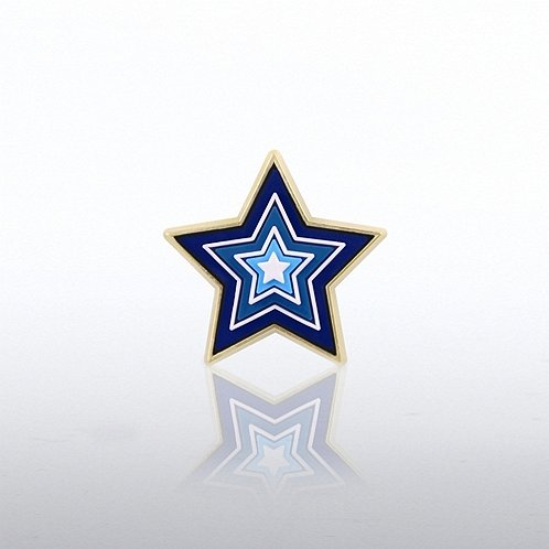 Star Levels PVC Lapel Pin