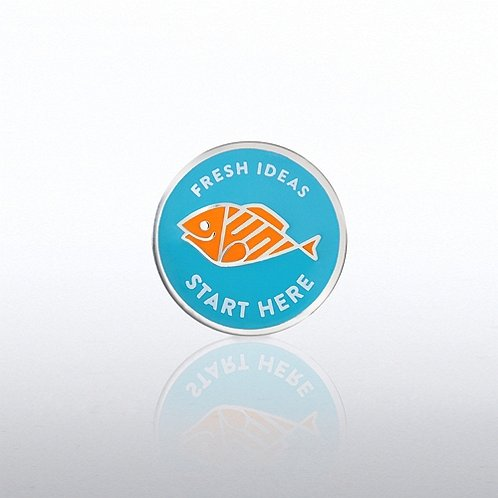 Fresh Ideas Start Here Lapel Pin