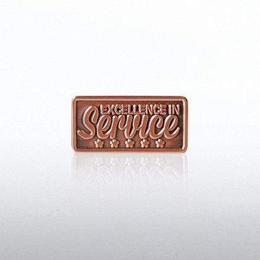 Lapel Pin - Excellence in Service - 5 Stars
