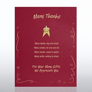Character Pin - Many Thanks: We Appreciate You