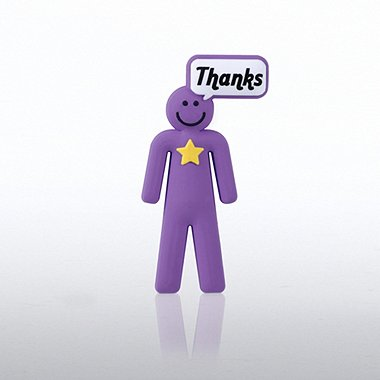 PVC Lapel Pin - Positive Praise Dude - Thanks