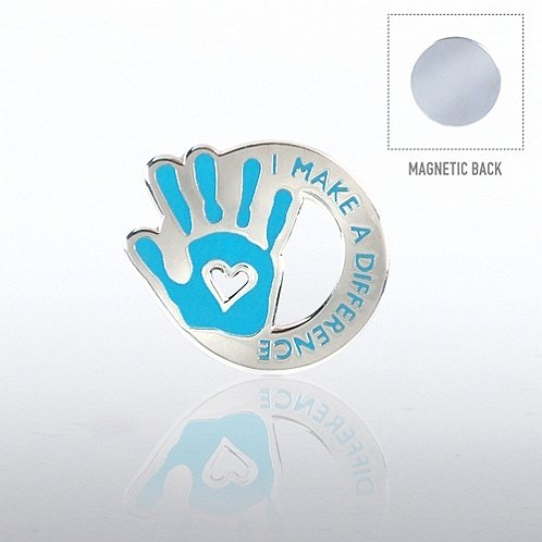 I Make the Difference Hand Magnet Back Lapel Pin