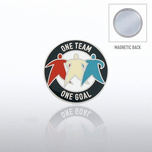 One Team, One Goal Magnet Back Lapel Pin