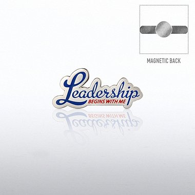 Lapel Pin Magnetic Back - Leadership Begins with Me
