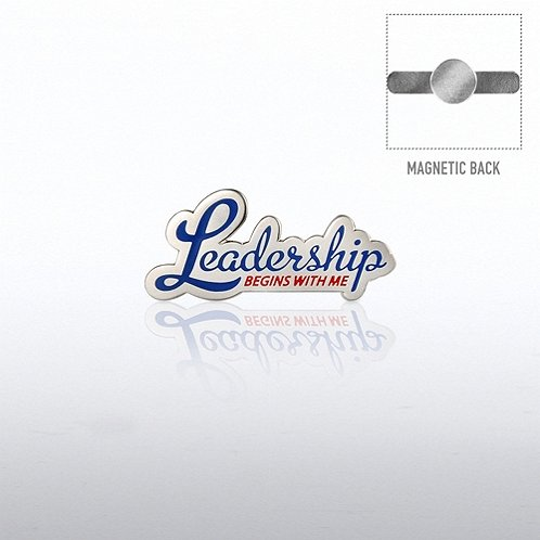 Leadership Begins with Me Magnet Back Lapel Pin