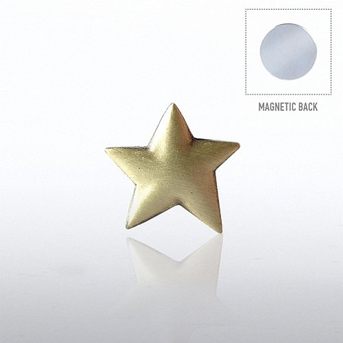 Gold Star Lapel Pin Magnetic Backing