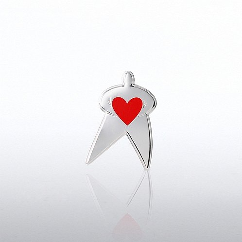 Team Guy with Heart Lapel Pin