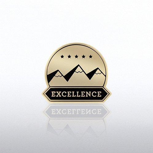 Excellence Mountains Lapel Pin