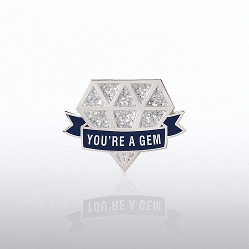 Glitter You're a Gem Diamond Lapel Pin
