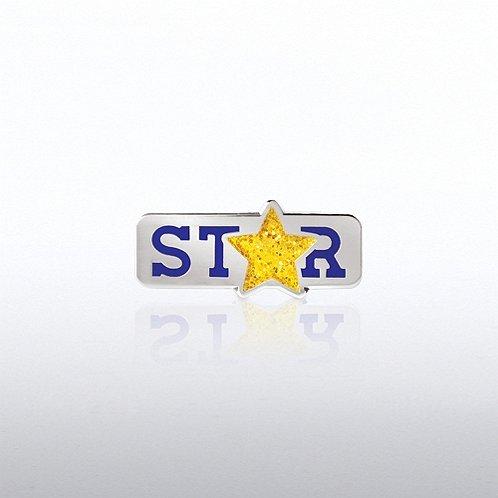 Glitter STAR Lapel Pin