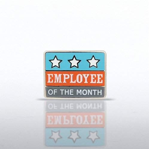 Employee of the Month Stars Lapel Pin
