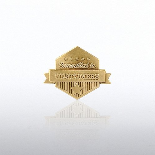 Committed to Customers Banner Lapel Pin