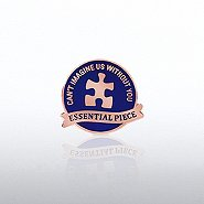 Lapel Pin - Essential Piece Puzzle Banner