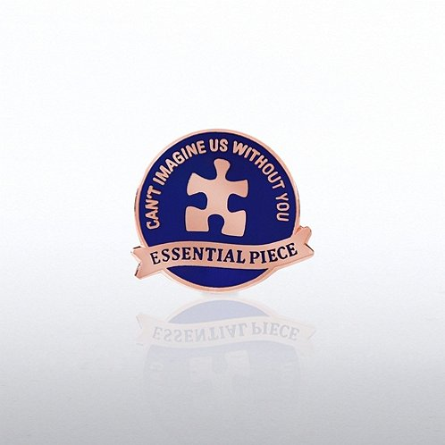 Essential Piece Puzzle Banner Lapel Pin