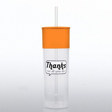Color Pop Tumbler - Positive Praise - Thanks for All You Do!