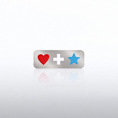 Lapel Pin - Heart Cross Star
