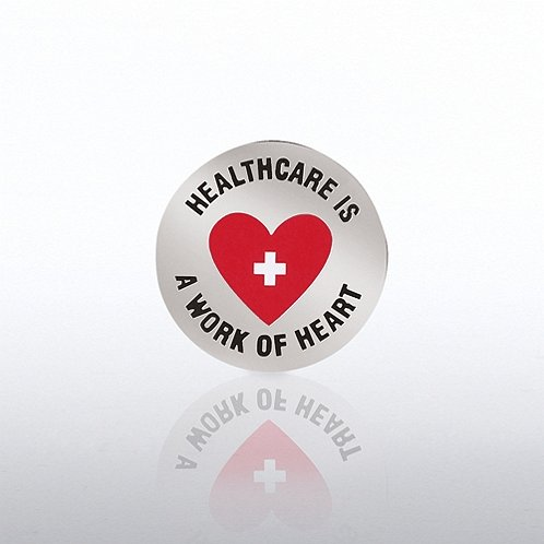 Healthcare is a Work of Heart Lapel Pin