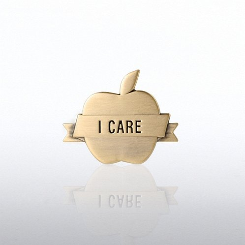 I Care Apple Lapel Pin